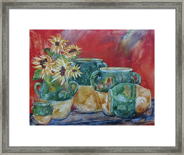 Confits And Sunflowers Framed Print