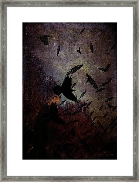 Conflict Of The Crows Framed Print