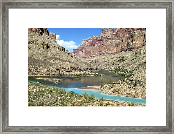 Confluence Of Colorado And Little Colorado Rivers Grand Canyon National Park Framed Print