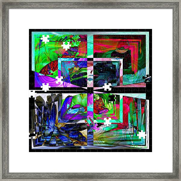 Confused Framed Print