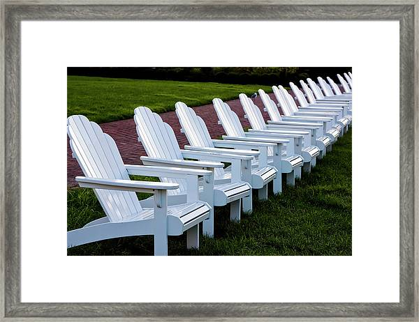 Congress Hall Chairs Framed Print