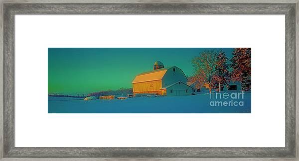 Conley Rd White Barn Framed Print