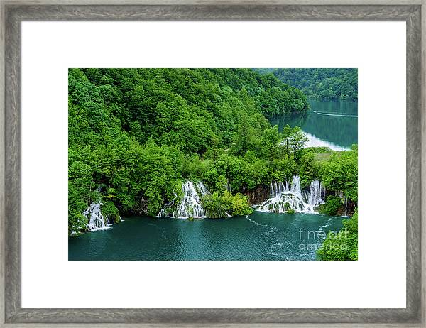 Connected By Waterfalls - Plitvice Lakes National Park, Croatia Framed Print