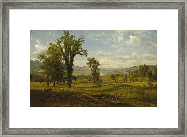 Framed Print featuring the painting Connecticut River Valley, Claremont, New Hampshire by Albert Bierstadt