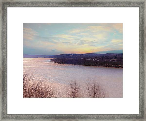Connecticut River View From Gillette Castle. Framed Print