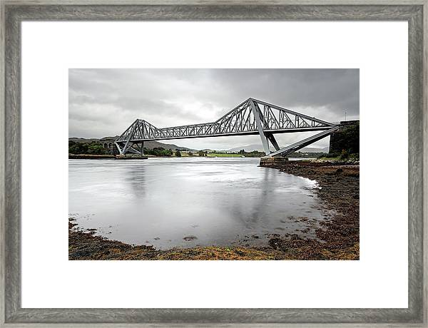 Connel Bridge Framed Print