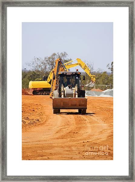 Construction Digger Framed Print