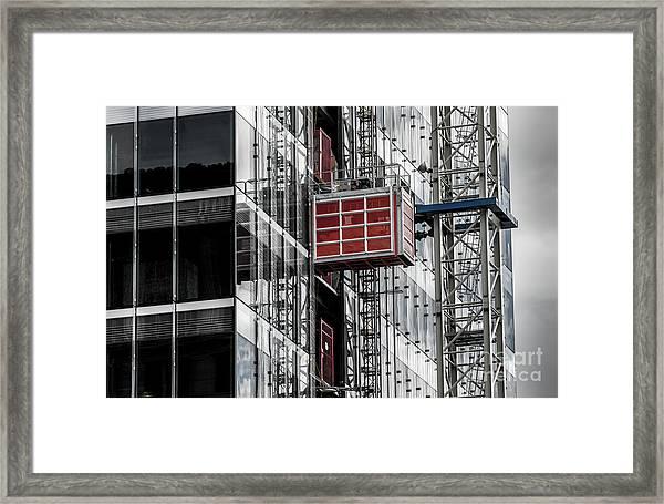Construction Season Begins - Skyscraper - Utah Framed Print