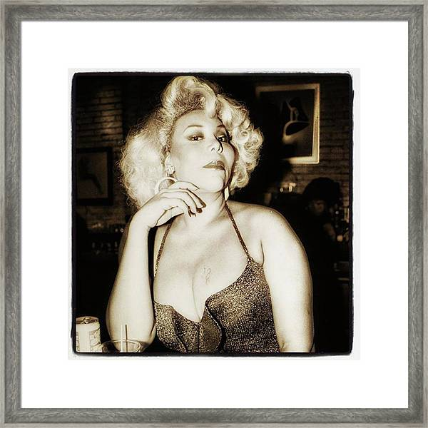 Framed Print featuring the photograph Consuela Del Rio. Drag Mother At The by Mr Photojimsf