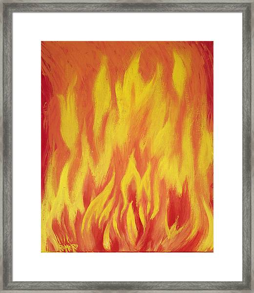 Framed Print featuring the painting Consuming Fire by Antonio Romero
