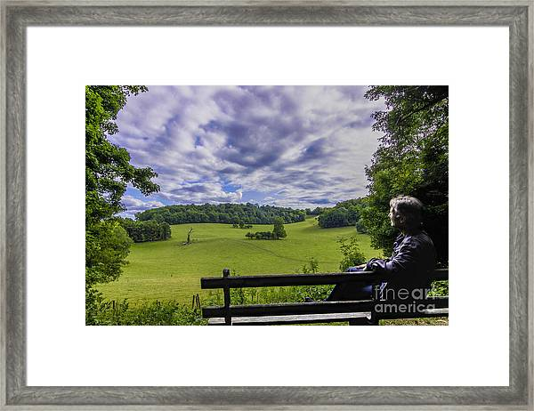 Contemplating The Beautiful Scenery Framed Print