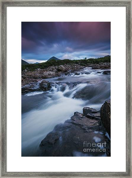 Contemplating The Cuillin Framed Print