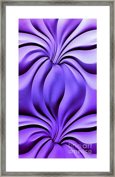 Contemplation In Purple Framed Print