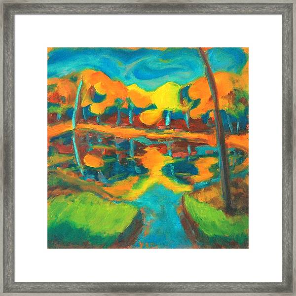 Framed Print featuring the painting Contemplation by Yen