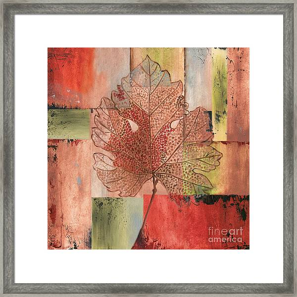 Contemporary Grape Leaf Framed Print