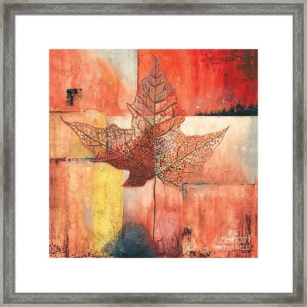 Contemporary Leaf 2 Framed Print