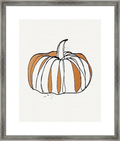 Contemporary Pumpkin- Art By Linda Woods Framed Print