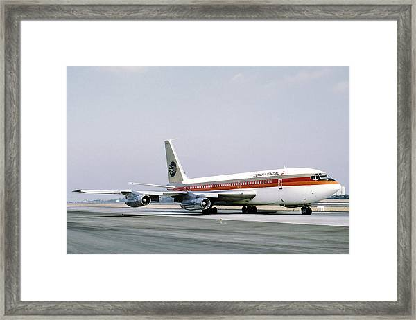 Continental Airlines 720-024b N17207 Los Angeles July 22 1972 Framed Print
