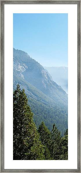 1 Of 4 Controlled Burn Of Yosemite Section Framed Print