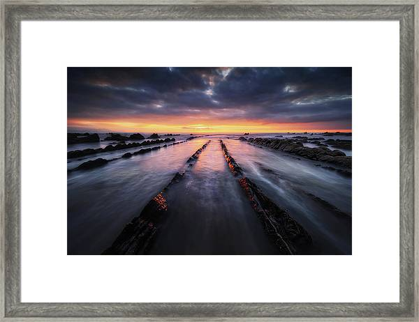 Converging To The Light Framed Print
