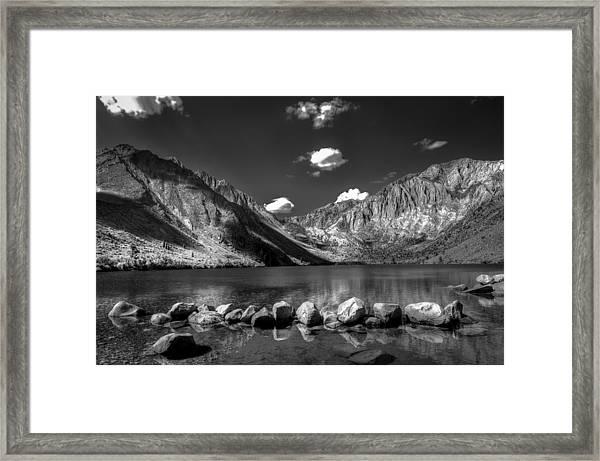 Convict Lake Near Mammoth Lakes California Framed Print