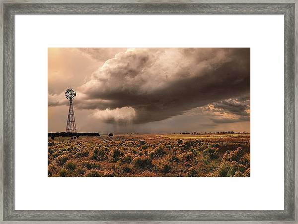 Conway Storm Front Framed Print