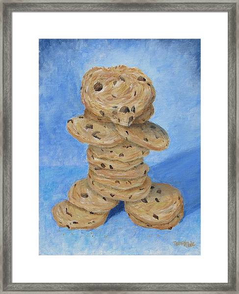 Framed Print featuring the painting Cookie Monster by Nancy Nale