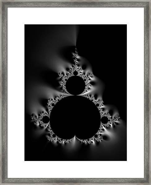 Cool Black And White Mandelbrot Set Framed Print