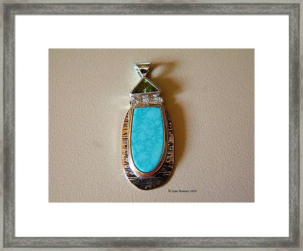 Cool Blue Waters Framed Print by Stan Mowatt