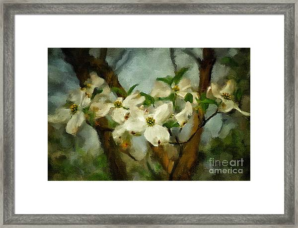 Framed Print featuring the digital art Cool Breeze Painterly by Lois Bryan