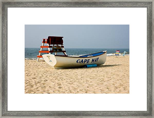 Cool Cape May Beach Framed Print