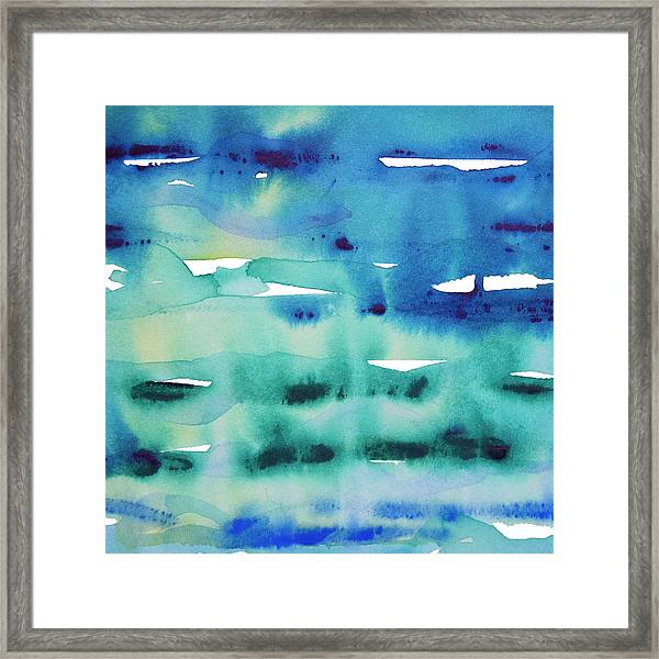 Cool Watercolor Framed Print