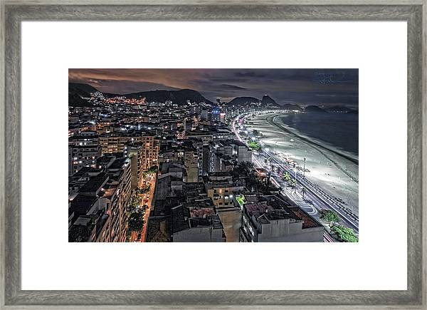 Copacabana Lights Framed Print