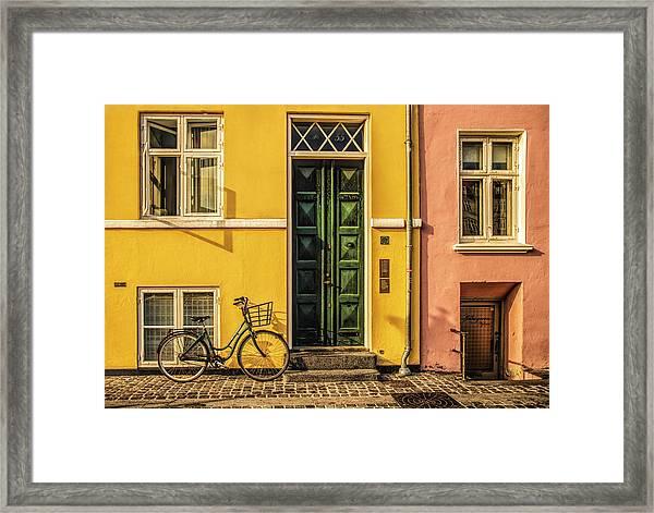 Copenhagen Transportation Framed Print