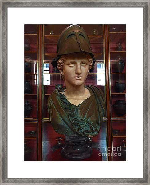 Copper Bust In Rome Framed Print