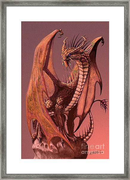 Copper Dragon Framed Print