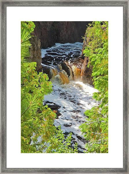 Copper Falls Framed Print