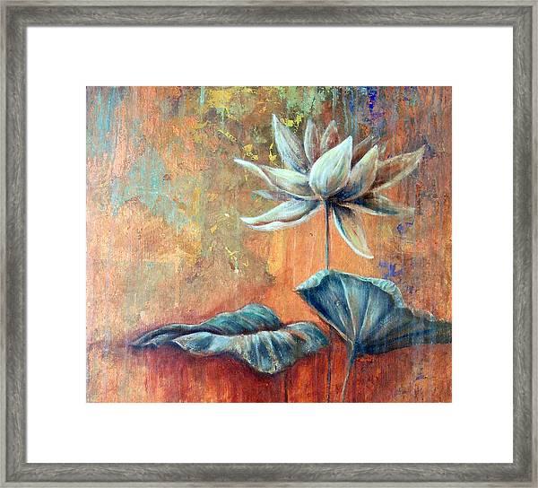 Copper Lotus Framed Print