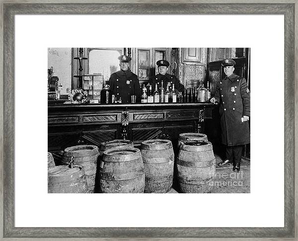 Cops At The Bar Framed Print