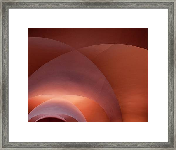 Framed Print featuring the photograph Coral Arched Ceiling by Lorraine Devon Wilke