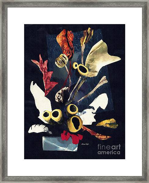 Coral Arrangement Framed Print