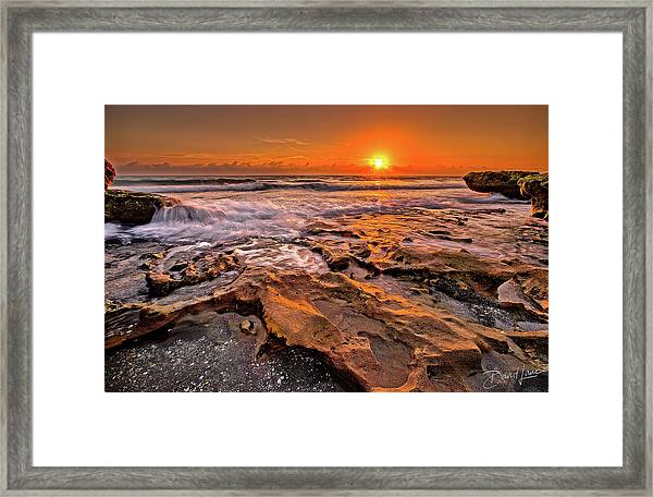 Framed Print featuring the photograph Coral Cove Sun by David A Lane