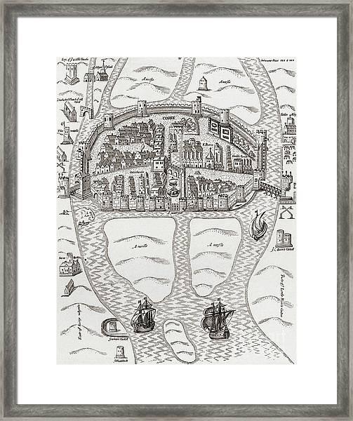 Cork, County Cork, Ireland In 1633 Framed Print