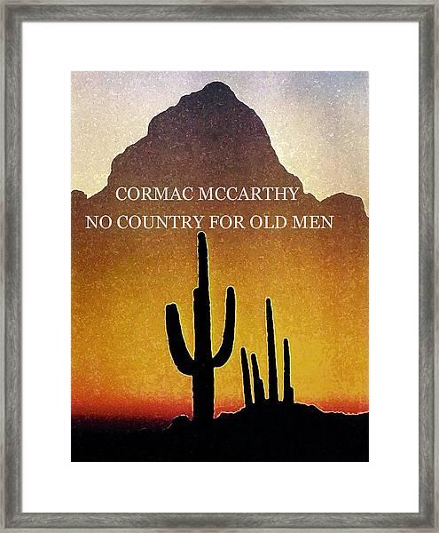 Cormac Mccarthy Poster  Framed Print