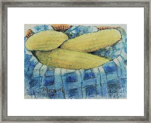 Corn In A Basket Framed Print