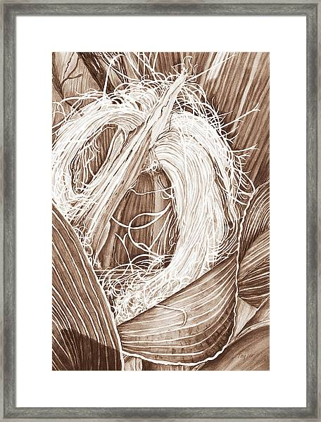 Corn Silk - Neutral Framed Print