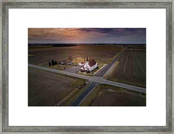 Corner Church Framed Print