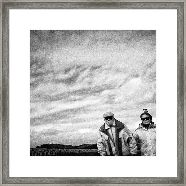 Corner Couple  #people #instapeople Framed Print