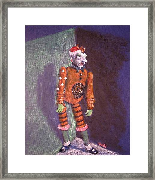 Cornered Marionette Strings Not Included Framed Print