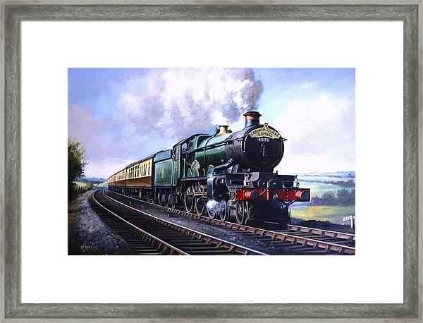 Cornish Riviera Express. Framed Print